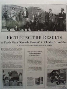 Quaker Oats Cereal Picturing Results Ad 1928