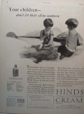 Hinds Cream for Your Children Ad 1927