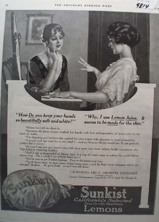 Sunkist Lemons & Lemon Juice Ad 1916