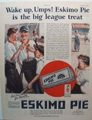 Eskimo Pie Big League Treat Ad 1927
