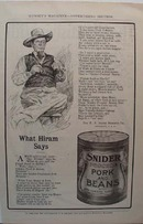 Snider Pork & Beans What Hiram Says Ad 1907