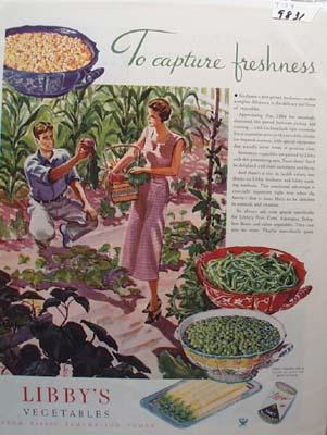 Libby's Vegetables Captures Freshness Ad 1934