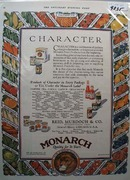 Monarch Character Foods Ad 1927