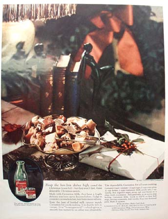 Carnation Milk Christmas Ad 1927
