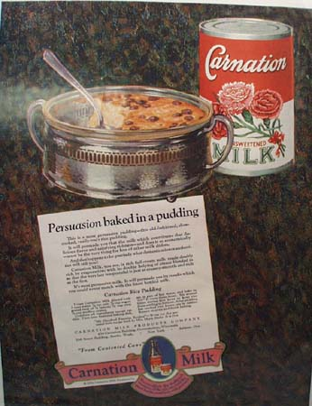 Carnation Milk Pudding Ad 1926