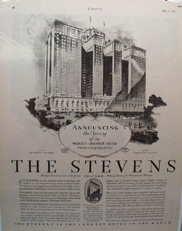 The Stevens Hotel World's Greatest 1927