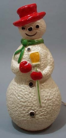 Nice older lighted Snowman