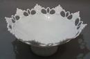 Fan & Circle Large bowl in Milk Glass