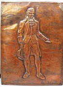 Colonial Statesman Copper foil picture with template