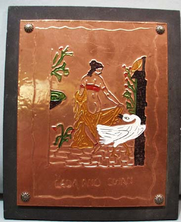 Leda and Swan, a copper press picture
