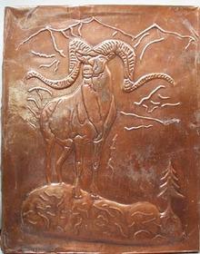 Nice older Ram Copper pressed Art picture