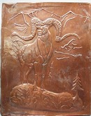 Nice older Ram Copper pressed Art picture