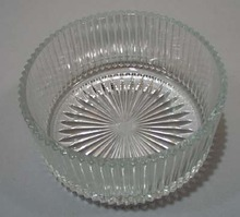 Round Glass Bowl 6 x 2 3/4