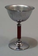 Stainless Steel and Bakelite wine glass