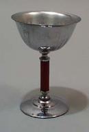 Stainless Steel and Bakelite wine glass