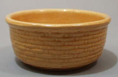 Yelloware basketweave bowl