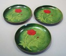 Bovano Cheshire Copper enamel rose dish set of 3 signed by  Terri