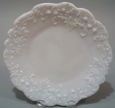 Old Roses milk glass Plate