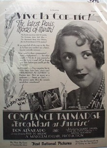Breakfast at Sunrise Movie Ad 1927