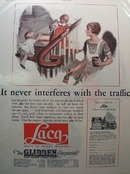 Glidden Laca Dries in 30 minutes Ad 1927