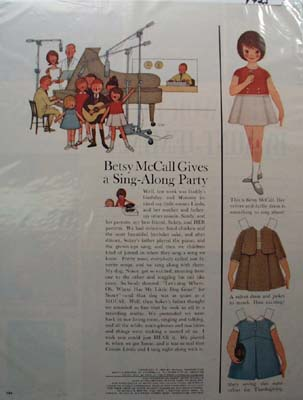 Betsy McCall Gives a Sing-Along Party Ad 1963