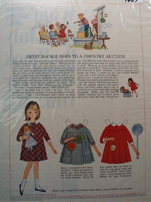 Betsy McCall Goes to Country Auction Ad 1965