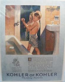 Kohler of Kohler Youth Learns Self Respect Ad 1926