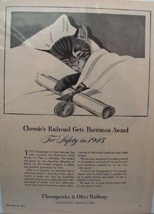 Chesapeake & Ohio RR Chessie's Award Ad 1946