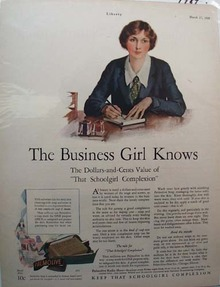 Palmolive Soap Business Girl Ad 1928