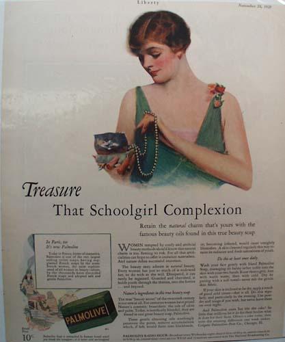 Palmolive Soap Treasure Ad 1928