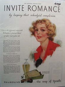 Palmolive Soap Invite Romance Ad 1933