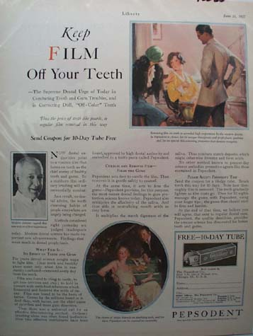 Pepsodent Tooth Paste Combats Film Ad 1927