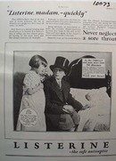 Listerine Antiseptic Never Neglect Sore Throat Ad 1928