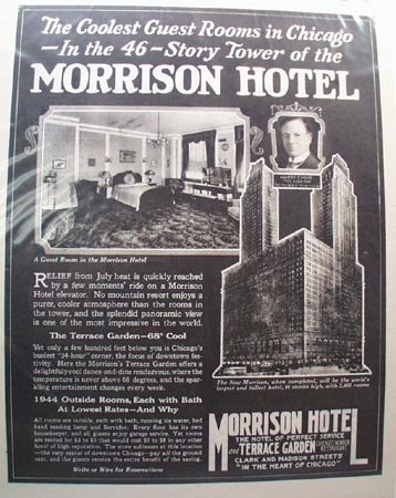 Morrison Hotel 46 Story Tower Ad 1926