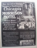 Morrison Hotel Art of Dining Ad 1928