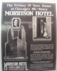 Morrison Hotel Privacy of Your Home Ad 1926