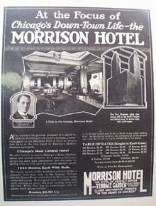 Morrison Hotel Focus of Down Town Ad 1927