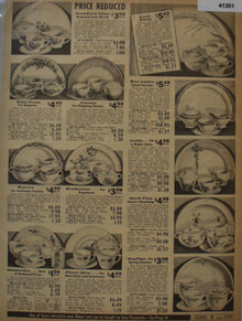 Sears Dinnerwear 1938 Ad featuring dinnerware patterns