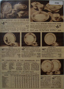 Sears Dinnerwear 1938 Ad featuring dinnerware patterns