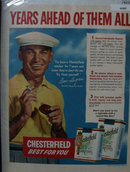 Chesterfield Cigarettes 1953 Ad with Ben Hogan