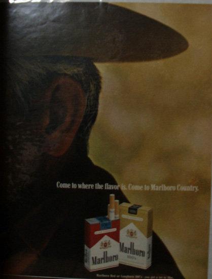 Marlboro Cigarettes 1970 Ad