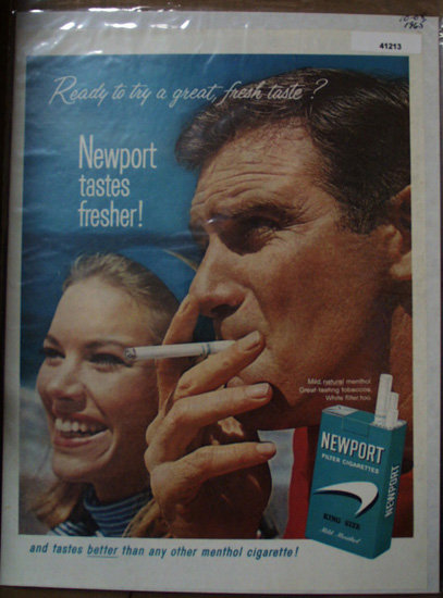 Newport Filter Cigarettes 1965 Ad