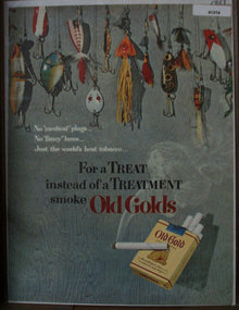 Old Gold Cigarettes 1951 Ad with fishing lures