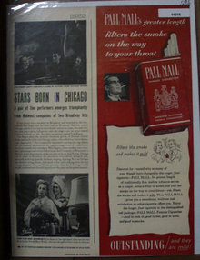 Pall Mall Cigarettes 1949 Ad