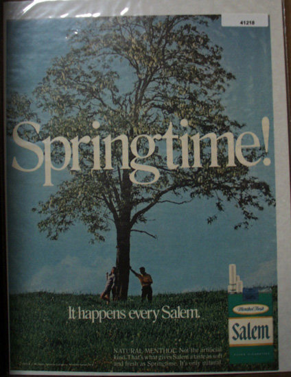 Salem Menthol Fresh Cigarette 1970 Ad