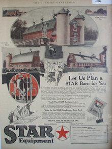 Star Barn Plans 1920 Ad