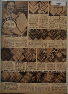 Sears Womens Handkerchief Scoop 1936 Ad