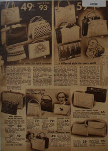 Sears Hand Bags 1938 Ad for teens
