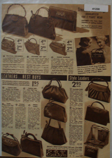 Sears Womens Bags 1938 Ad treasure craft