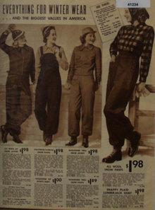 Sears Winter Wear for Women 1938 Ad in wool